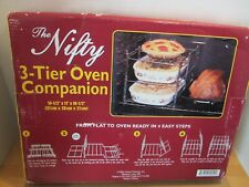 """Nifty Home Products Oven Companion 3 Tier Oven Rack Baking 14.5x11x10.5"""" NEW/BOX"""