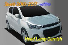 Head Lamp Garnish Chrome Molding Trim Cover 2P for Chevy Holden Spark 2016~ 2017