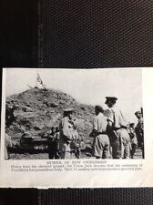 m9-7 Ephemera 1940s Ww2 Picture Pantellaria Union Jack Flies Sicily