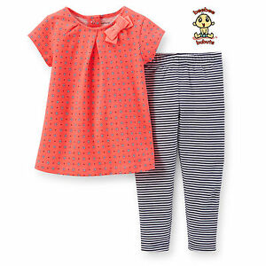 Carter's 2-pc Blouse and Legging Set 12 months Authentic and Brand New