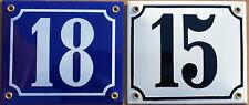 schabloniertes Email Emaille Hausnummer Schild 14x12cm