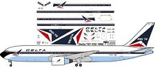 Delta delivery livery Boeing 767-300 decals for Revell 1/144 kit