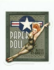 SEXY PINUP NOSE ART  GIRL PAPER DOLL  ARMY AIR CORPS AIR FORCE   Sticker Decal