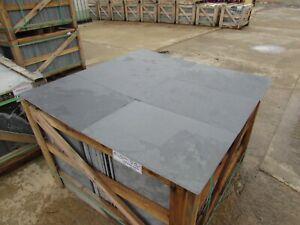 Brazilian graphite Black Slate Tiles Flooring 35m2 600x400 10mm Thick ✔FREE DEL