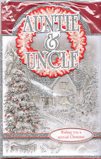 Auntie & Uncle Christmas Card. Wishing You A special Christmas 3D Glitter Card.