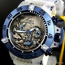 Invicta Subaqua Noma III Koi Fish Silicone Blue White 50mm Chronograph Watch New