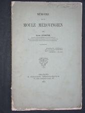 Mémoire sur un moule mérovingien Dumuys 1885 Archéologie Loiret anges apocryphes
