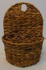 SEAGRASS HANGING DECORATIVE STORAGE BASKET PLANTER WALL POCKET