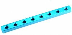 """1/4"""" PT Air Pneumatic Cylinder 8 Ways Aluminum Manifold Block Splitter Blue"""