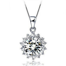 New Arrival Amazing Shiny Luxury Rhinestones Gems Silver Necklaces Pendant