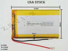3.7V 4000mAh  805080  Lithium Polymer LiPo Rechargeable Battery (USA STOCK)