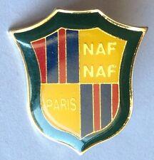 NAF Paris Clothing Line Authentic Advertising Pin Badge Rare Vintage (F6)