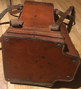 WH WK2 Scherenfernrohr Möller SF14 Ledertasche German Donkey Ears Leather Case