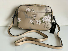 NEW! GUESS MIDGE CHAMPAGNE GOLD FLORAL CROSSBODY SLING MESSENGER BAG PURSE SALE