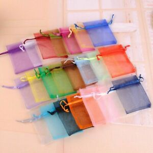 Colorful Small Jewelry Pouch Organza Bags For Wedding Favors And Gifts Packaging