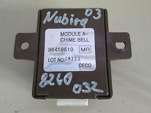 Control Unit Alarm System Daewoo Nubira Klan Year Built 03 96459510