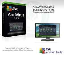 AVG AntiVirus 2015 - 1 computer / 1 ANNO PROTEZIONE | Codice di licenza solo