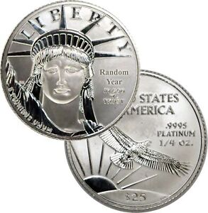 Random Year $25 1/4 oz .9995 Platinum American Eagle Uncirculated Coin BU