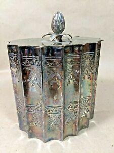 Vintage Arabic Middle Eastern Silverplate Decorative Tea Caddy Box