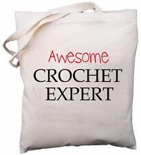 Awesome Crochet Expert - Natural Cotton Shoulder Bag - Gift