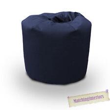 Navy Cotton Bean Bag Children's Kids Beanbag Seat Play Room Furniture Chair
