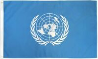 3x5 United Nations World Peace Nylon / Poly Blend Flag 3'x5' Indoor Outdoor