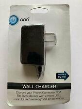 Onn Wall Charger Phone Camera Pda Micro Mini Usb Samsung 20 Pin