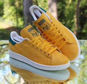 Adidas Stan Smith College Pennant Pack Gold Men's Size 9 Yellow Green B24709
