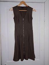 H&M Khaki Green Summer Dress In Size UK 10 Knee Length