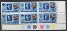 """ST. Kitts-Nevis SG129var 1963 1/2 C """"Vertical Bianco Linea ritoccato blu"""" Gomma integra, non linguellato"""
