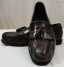 Rockport Mens 11M Kiltie Tassel Burgundy Leather Loafers Dress Shoes
