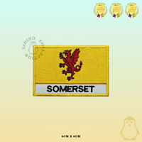 SOMERSET County Flag With Name Embroidered Iron On Sew On Patch Badge