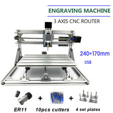 CNC 2417 Mini DIY Mill Router Kit USB Desktop Metal Grabador PCB Fresadora GRBL