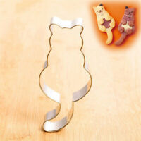 Cat Shaped Aluminium Mold Sugarcraft Cake Cookies Pastry Baking Cutter Mould
