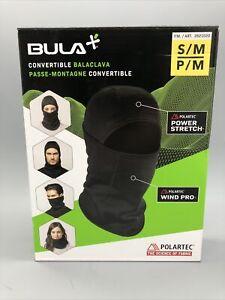 New Open Box- Bula Primaloft Convertible Balaclava Face Mask -Black- Size S/M