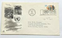 United Nations 1965 Population Trends Development First Day Issue Postal FDC