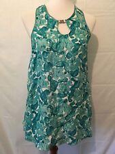 Cynthia Steffe Sleeveless Silk Tank Top Teal Green Size 2