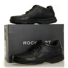 Rockport World Tour Classic Black Tumbled Leather Walking Shoes - Mens 7 M