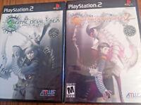 Shin Megami Tensei Digital Devil Saga 1 AND  2 - PlayStation 2 PS2  Two 2 games