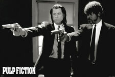 "Pulp Fiction Duo Guns John Travolta Samuel L Jackson Movie 36""x 24"" Poster New"