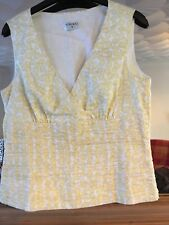 Kaliko Lemon Pattern Cotton Top Size 12