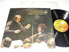 "I Perlman/ Giulini ""Brahms:Violin Concerto"" 1977 LP, Nice NM-!, Angel SQ-1-37286"