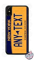 Customized NEW YORK License Plate Phone Case Cover Any Text for iPhone Samsung
