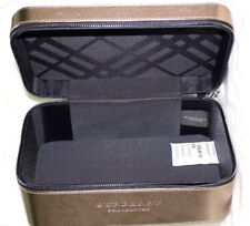 BURBERRY Vanity Case Makeup / Travel Bag BRAND NEW SEALED,FAUX LEATHER DARK GOLD