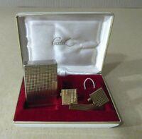 Set Castel Encendedor + Gemelos+ Clip Corbata Lighter Golden Plated vintage