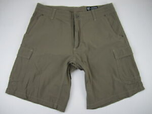 Mens 34 Kuhl nylon spandex gray cargo shorts