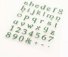 40 LETTERS/NUMBERS CLEAR STAMPS-ALPHABET-LOWER CASE-DECORATIVE/OLD FONT SILICONE