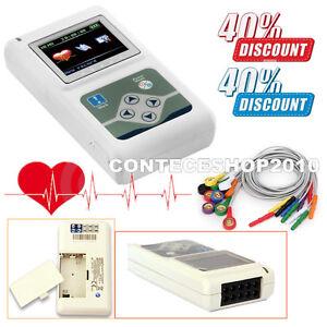 TLC5000 Holter ECG digital 12 channel lead 24h Analyzer Recorder,PC SW, FDA CE