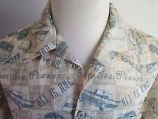 Men's Hard Rock Cafe Honolulu Hawaiian Button Up Shirt Sz Large Cars/Pinups