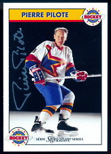 Zellers Masters of Hockey PIERRE PILOTE Autographed Signed Card w/COA #475/1000